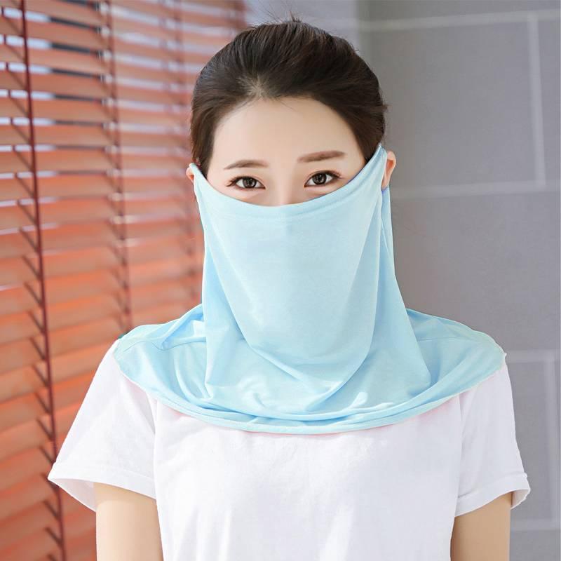 海谜璃冰丝口罩披肩夏季户外防紫外线冰骑车透气遮阳防晒面罩遮H9108